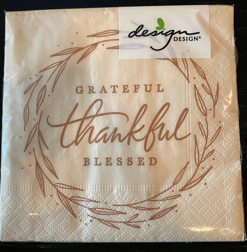 Grateful Thankful Blessed Napkins