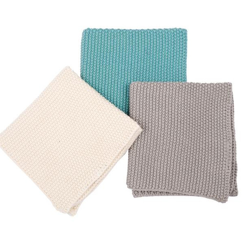 Knitted Wash Cloth Set