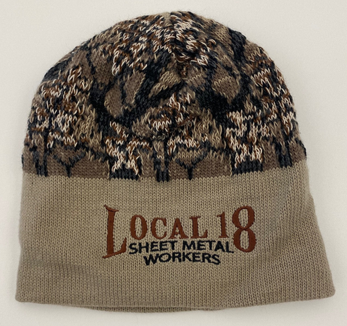 Brown Camo Winter Beanie