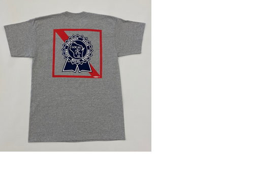 Grey Pabst Short Sleeve Shirt