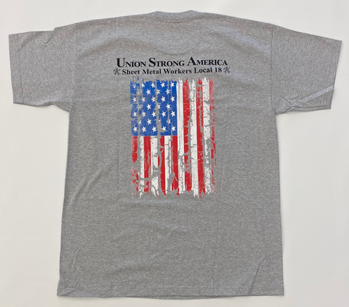 Grey American Flag Short Sleeve Shirt