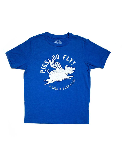 Flying Pig Youth T-Shirt - Blue