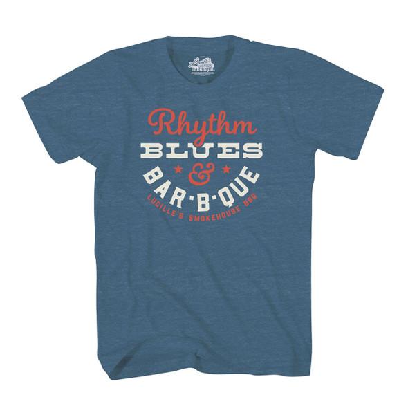 Rhythm Blues T-Shirt - Indigo Heather