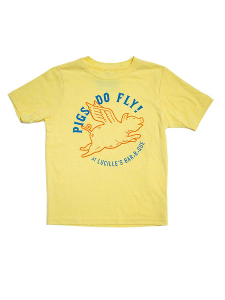 Flying Pig Youth T-Shirt - Gold