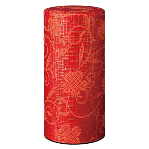"""Washi Tea Canister """"Red Perennial"""""""