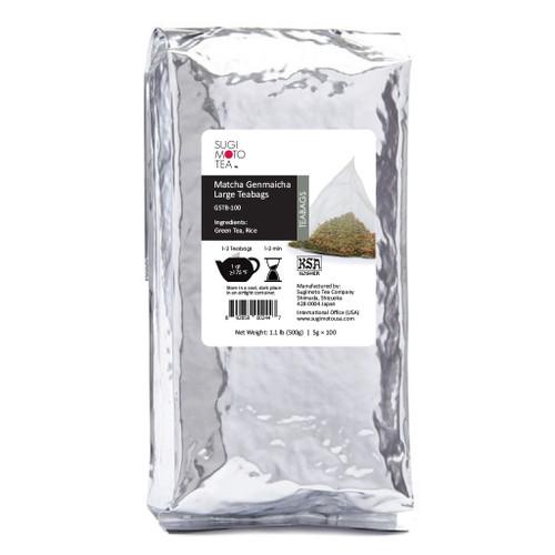 Matcha Genmaicha Large Tea Bags