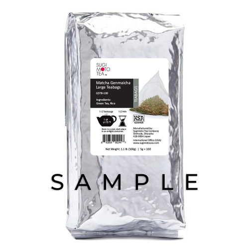 Matcha Genmaicha Large Tea Bags Sample