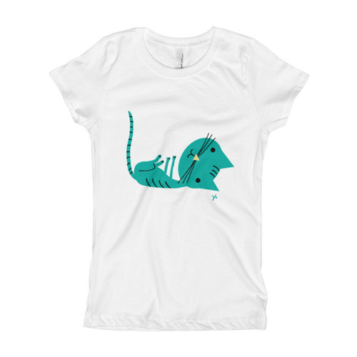 Aqua Cat - Girl's T-Shirt