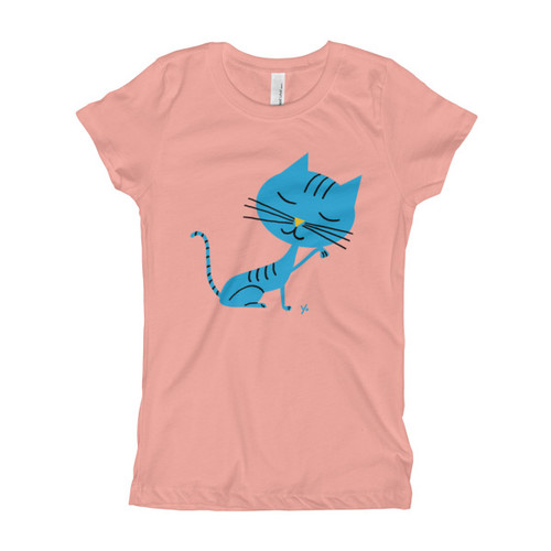 Blue Cat - Girl's T-Shirt