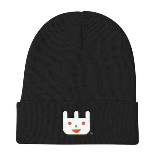 Orange Bunny - Knit Beanie