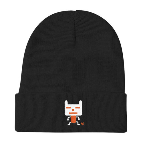 Deadpan Dog - Knit Beanie