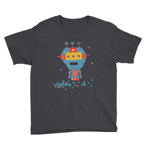 Blue Robot - Youth Short Sleeve T-Shirt
