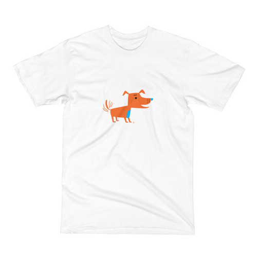 Orange Dog Men's Short Sleeve T-Shirt