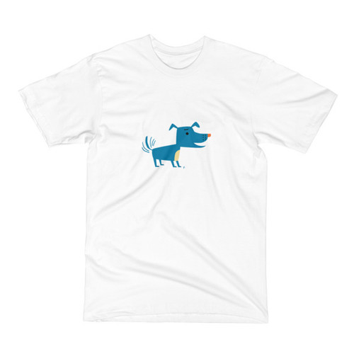 Blue Dog Men's Short Sleeve T-Shirt