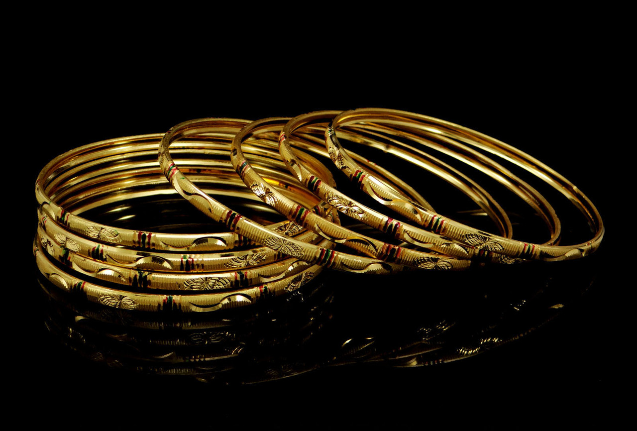 Traditional 18k Gold Plated Sets South Indian Bridal Bangles