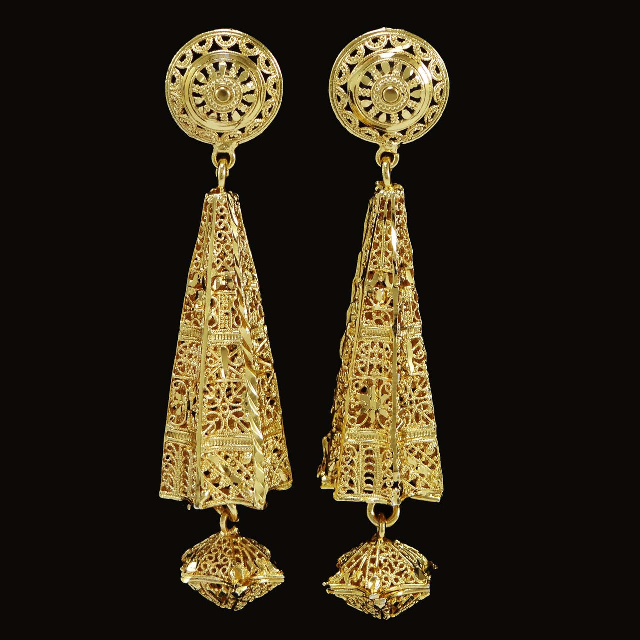 Indian Ethnic Traditional Gold Plated Earring Set Bollywood