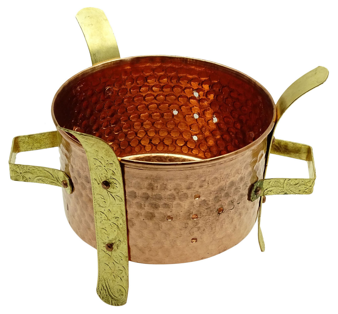Indian Copper Tandoor Traditional Barbecue Food Warmer Kitchen Accessorie MU187A