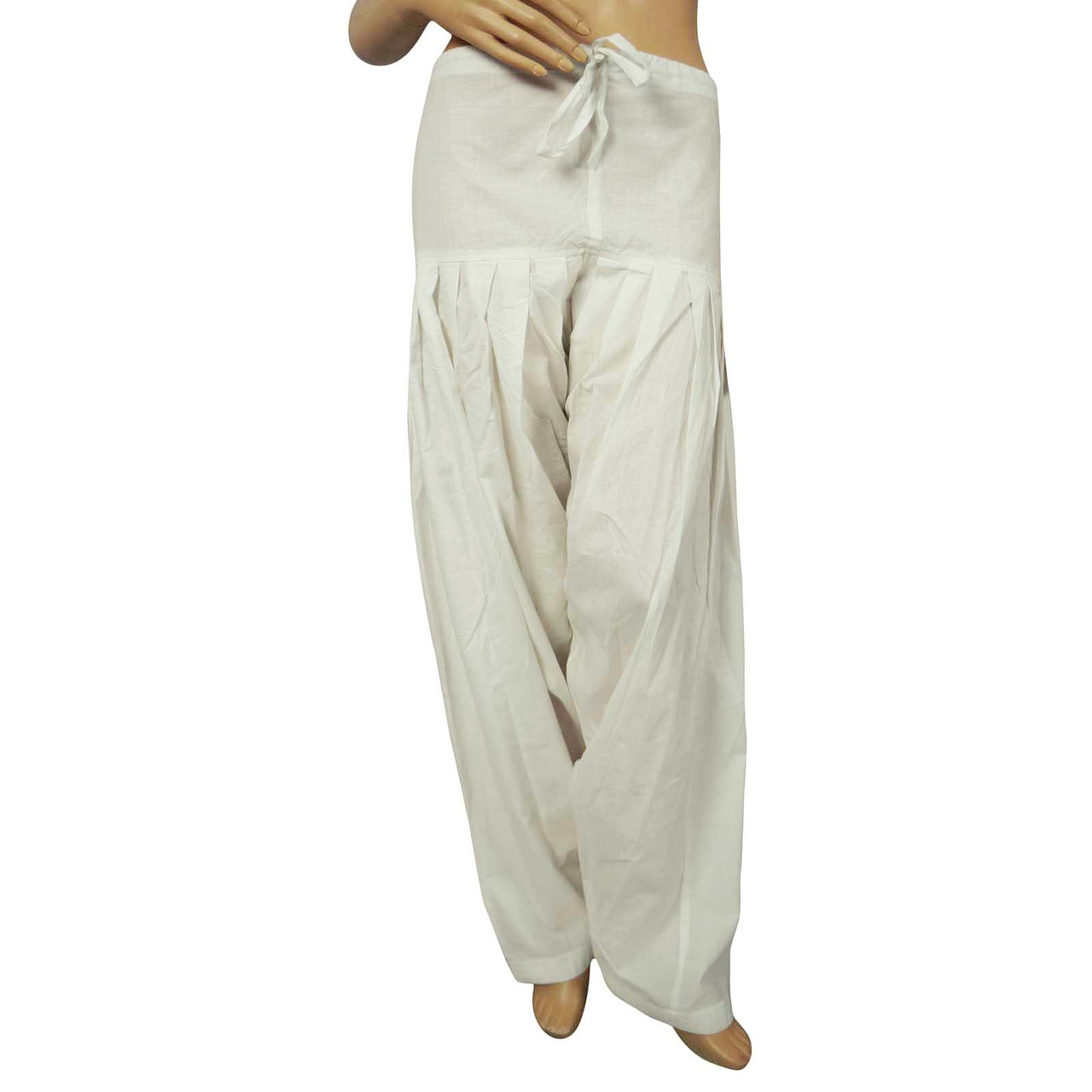 Pure Cotton Churidar Salwaar Chiffon Dupatta Women Pants Bottom Wear Indian