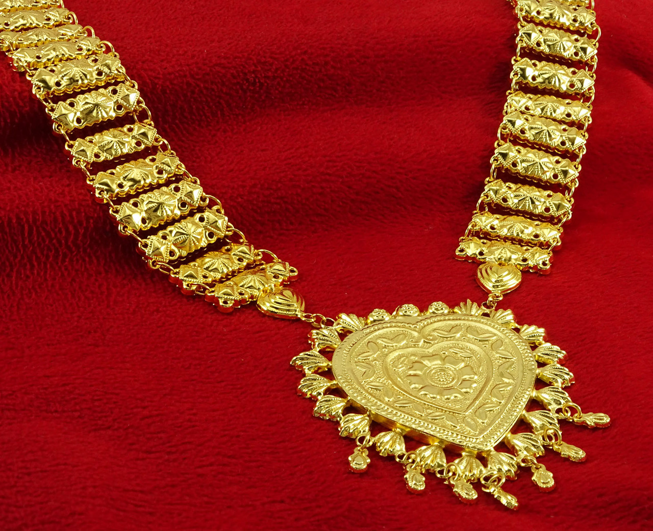 18k Gold Plated Bridal Women Necklaces Traditional Designer