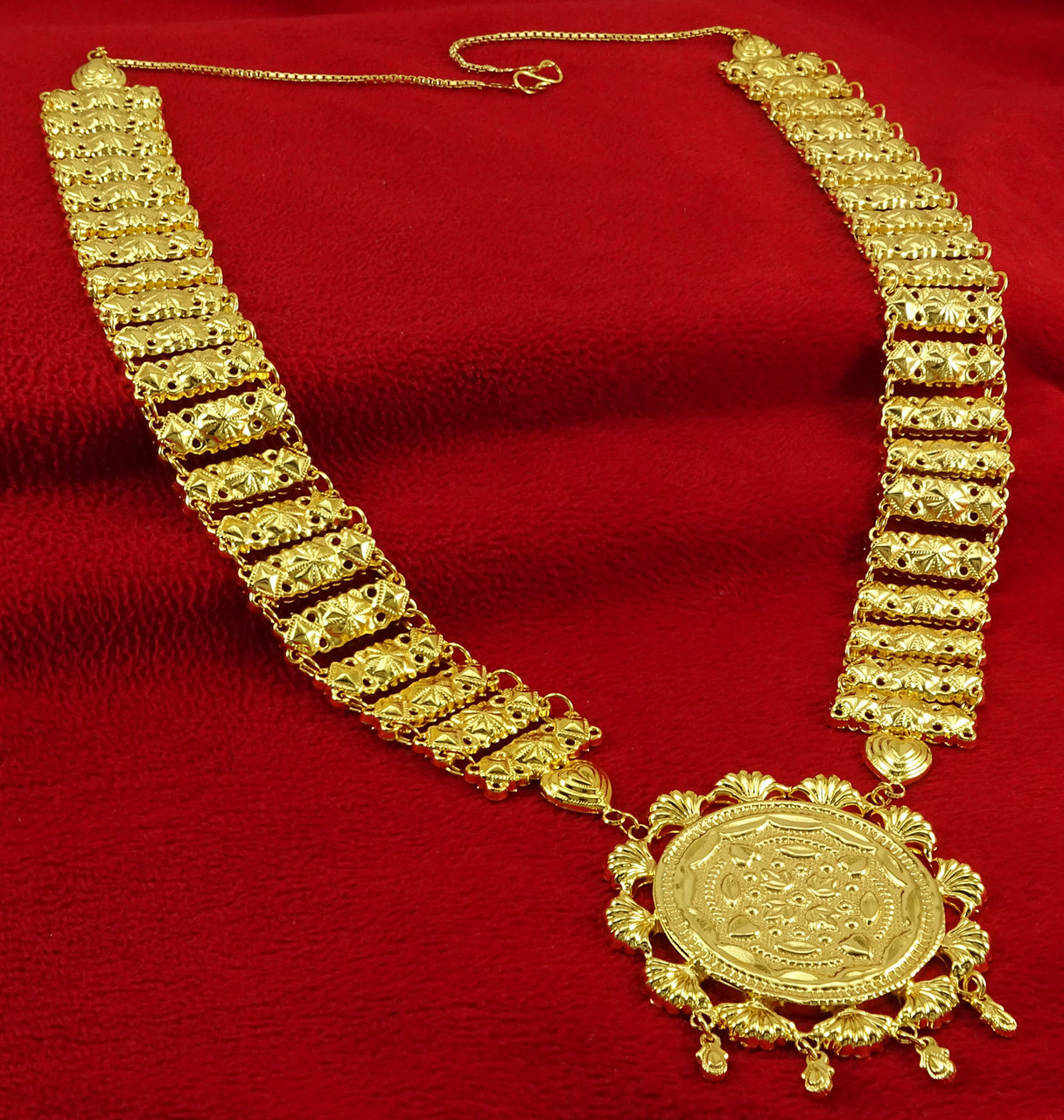 Designer 18k Gold Plated Traditional Necklaces Indian Women