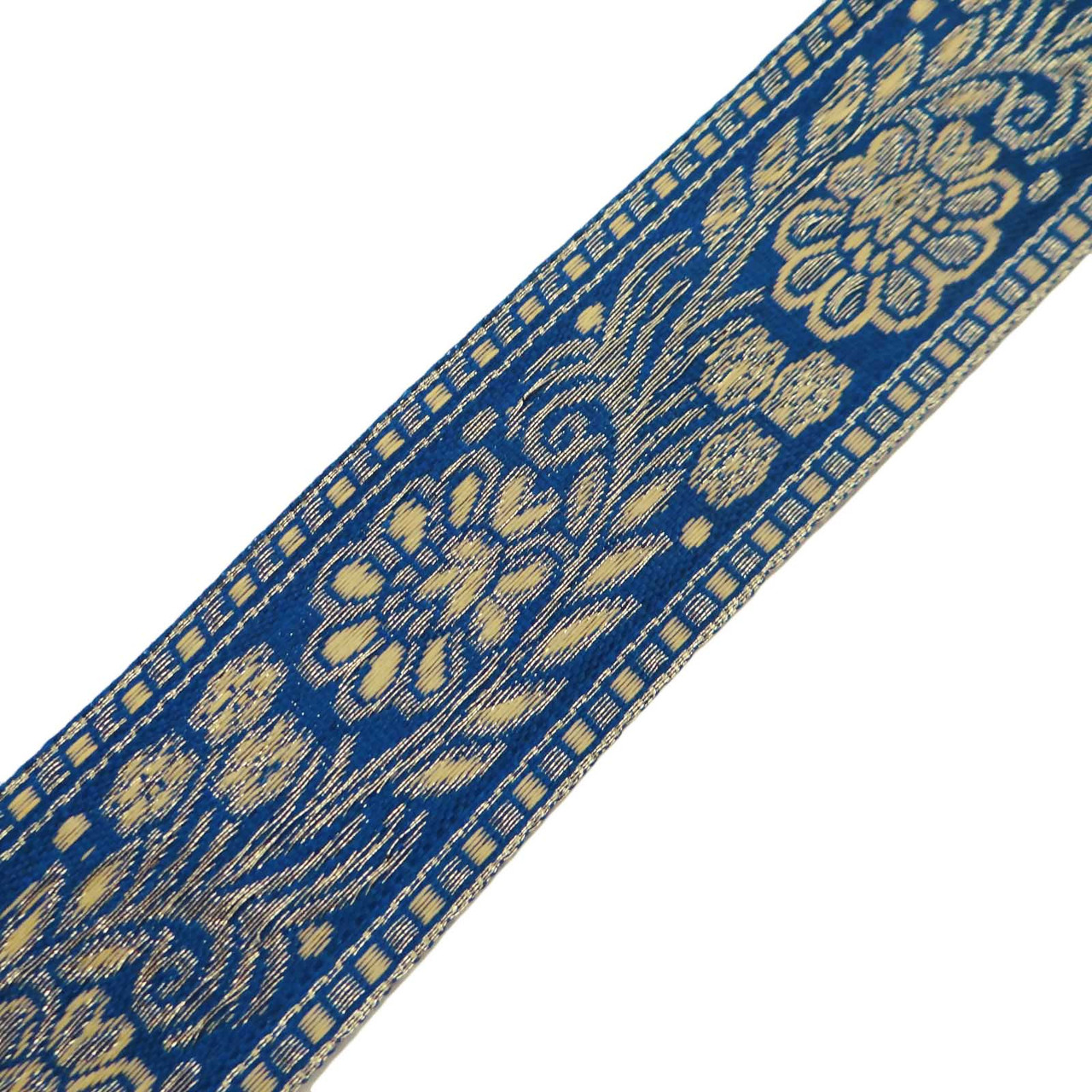 Floral Sari Border Purple India Ribbon Trim Jacquard Fabric Craft Lace By 1 Yd