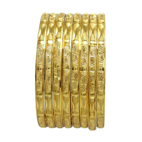 Traditional Gold Plated Wedding Bangles Set South Indian Bridal