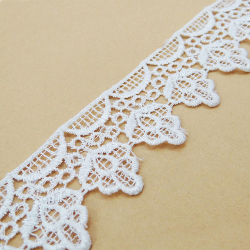 Decorative Venice Lace 0.7 Inches Wide Trim Crafting Beige Sewing By 1 Yard