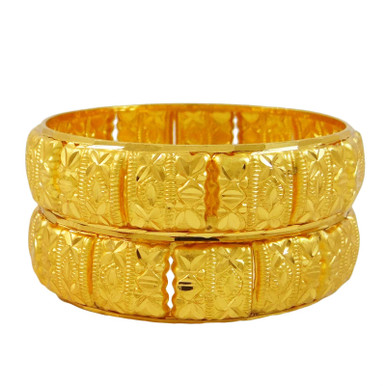 2.10 Indian Gold Plated large  Designer Bangles Women Jewellery Bollywood.