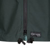 Talorc Organic Hybrid Ventile Jacket in Spruce Green/Contrast. Organic Ventile detail on front.