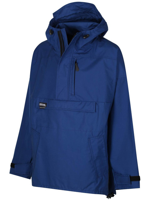 A lightweight smock which is fully waterproof in the shoulders and hood, weatherproof elsewhere. Colour: Royal Blue.