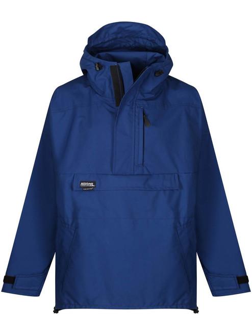 The Braemar Hybrid Smock which is fully waterproof in the shoulders and hood, weatherproof elsewhere. Colour: Royal Blue.