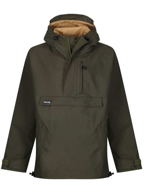 Premium colour Olive/Bronze. Fully waterproof, versatile all-weather double-layered Ventile® windshirt with options to customise pockets & side zips.