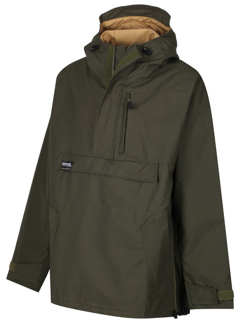 Premium colour Olive/Bronze. Fully waterproof smock suitable for all weather conditions and ideal for bushcraft, nature watching, cold weather walking and field sports.