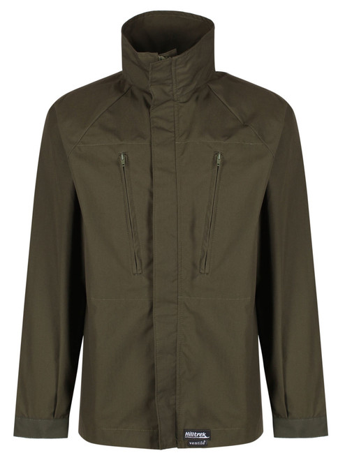 Single Ventile lightweight Greenspot ®cycle jacket in L34 Ventile with minimal features to reduce weight and increase breathability,  offering better breathability and shower protection than synthetic windproofs.