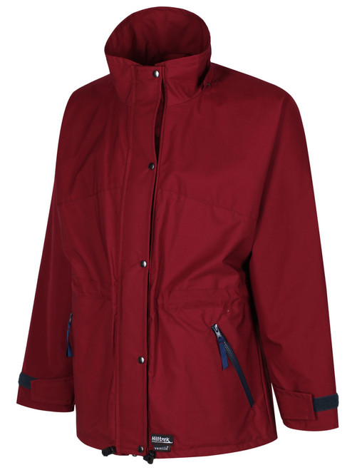 Fully waterproof walking Jacket styled and fitted for ladies, which is durable and quiet, perfect for nature watching and photography. Colour: Burgundy