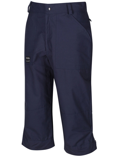 Windproof and showerproof with protection on the ankle, knees and seat. Colour: Navy.