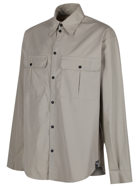 Classic style long sleeved windproof and weatherproof Single Ventile® Shirt. Comfortable fit which can be worn next to the skin or over a baselayer. Colour: Stone.