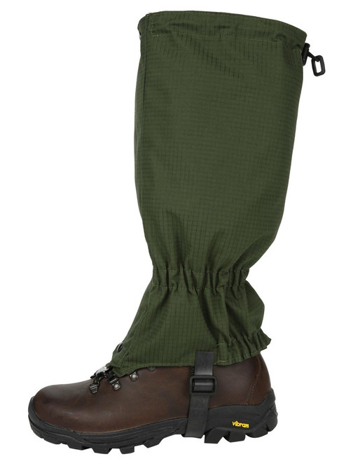 Full length Double Ventile® Gaiters for excellent breathability and durability, giving weather protection for walking or field sports. Colour: Olive Ripstop.