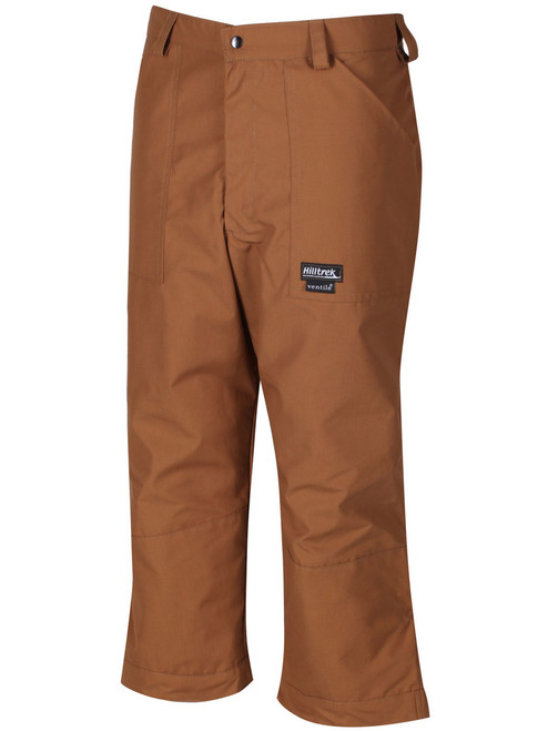 Classically styled below knee length fully waterproof Cotton Analogy® Breeches. Recommended to be measured 4 inches (10cm) below the knee cap. Colour: Cinnamon.