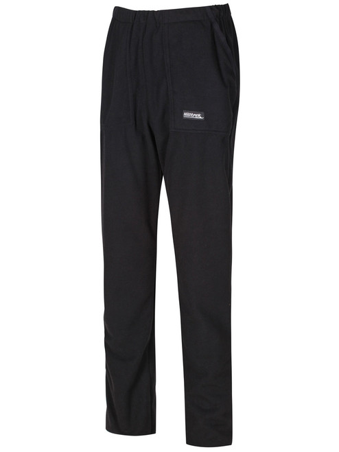 Bennachie Fleece Trousers  with two front hand-warming pockets. Colour: Black