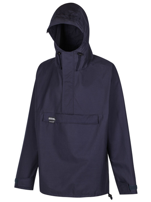 Over the head classic styled smock in Organic Ventile with a hood, designed for windproof and showerproof use. Colour: Navy
