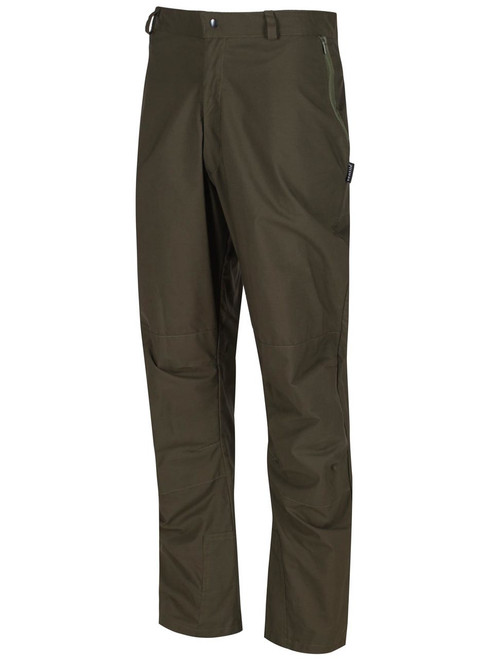 Organic fabric, tough, hardwearing and rustle free trousers with double Ventile® protection on the ankle, knees and seat. Wind and showerproof and highly breathable. Colour: Olive.