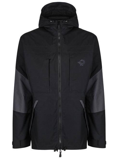 Colour: Black/Charcoal, front, hood down.