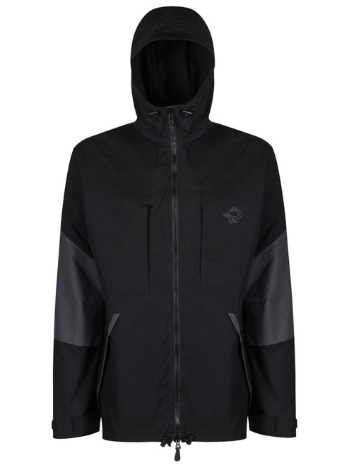 Colour: Black/Charcoal, integrated double Ventile® hood with volume adjuster and drawcord