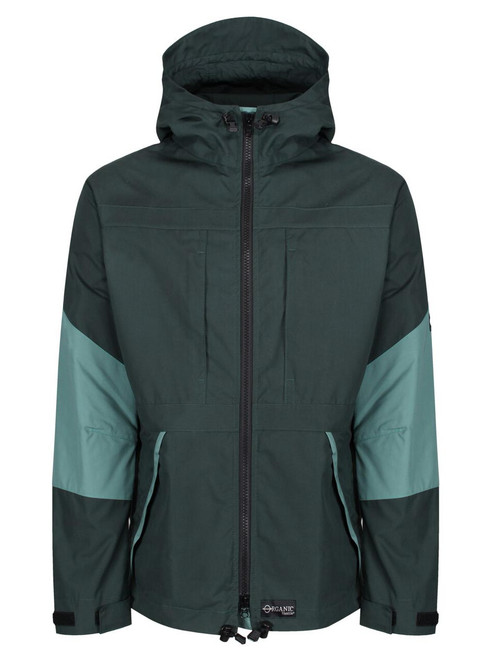 Talorc Organic Hybrid Ventile Jacket in Spruce Green/Contrast.