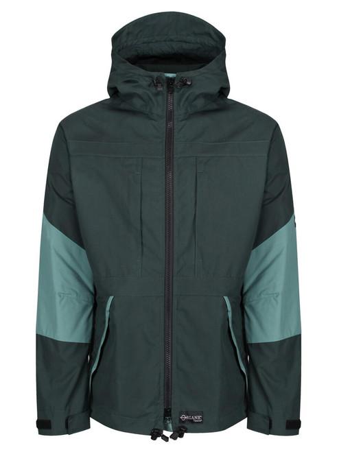 Talorc Organic Hybrid Ventile Jacket in Spruce Green/Contrast.