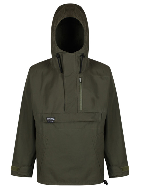 Fully waterproof, versatile all-weather double-layered Organic Ventile® windshirt with options to customise pockets & side zips