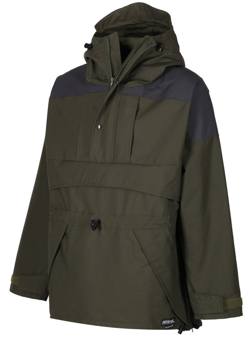 Fully featured Organic Double Ventile®  Smock ideal for extreme weather. Colour: Olive.