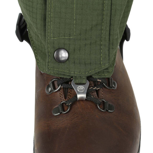 Mid  length Single Ventile® Gaiters. Front stud closure with Velcro and zip plus lace hook.