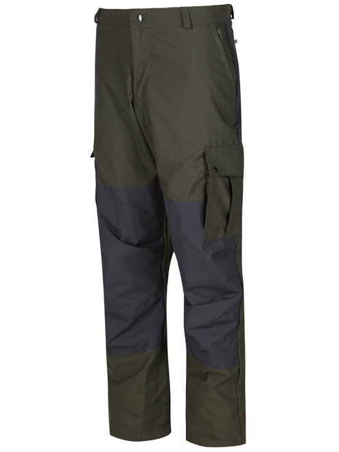 Colour: Olive/Charcoal. Articulated reinforced knee patches and  bellow cargo pockets.